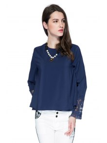 Double Layered Lace Panel Blouse