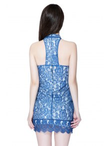 Halter Lace Hollow Bodycon Dress