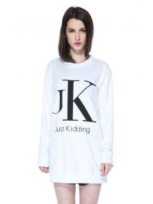 Long Sleeves Letter Print Sweatshirt