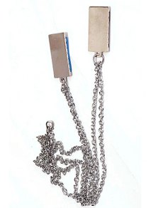 Pair of Chic Letter Decorated Square Necklaces For Loves
