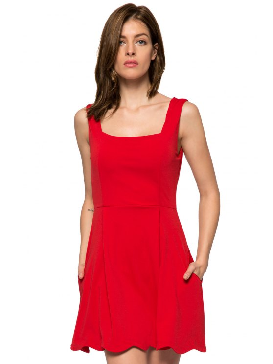 shops Red Straps A-Line Sundress - RED XS