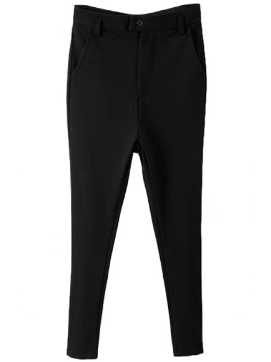 women Black Narrow Feet Pants - BLACK S