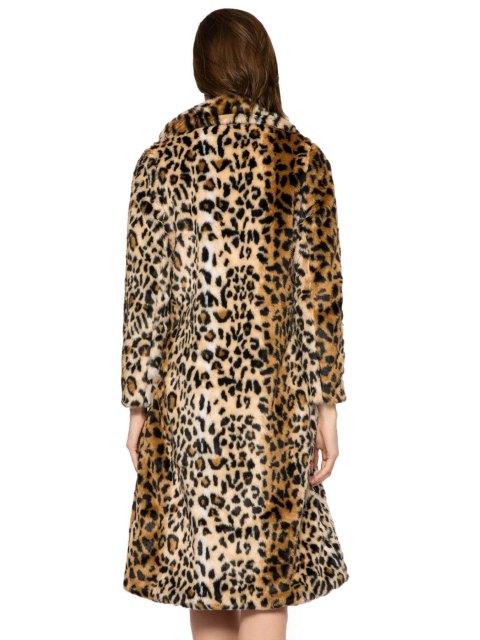 sale Leopard Print Faux Fur Coat - LEOPARD M Mobile