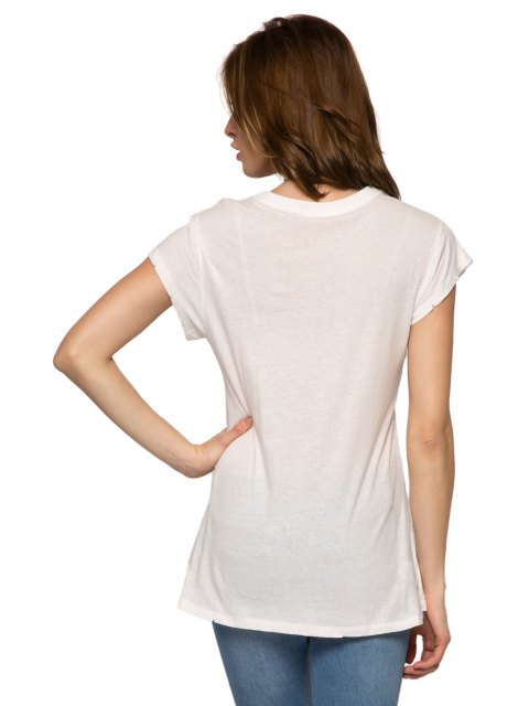 women Letter Arrow Print Short Sleeve T-Shirt - WHITE M Mobile