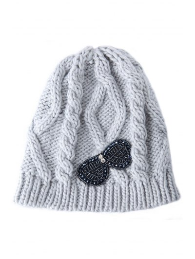 Beading Bowknot Knitted Hat от Zaful.com INT