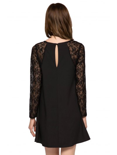 Lace Splicing Long Sleeve Dress от Zaful.com INT