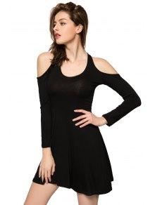 Off-The-Shoulder Long Sleeve Dress