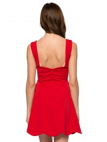 Red Straps A-Line Sundress