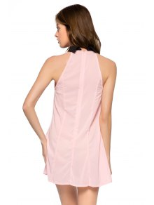 Flat Collar Color Block Dress