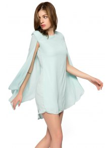 Solid Color Cloak Design Dress