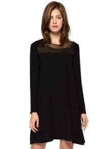 Long Sleeve Metal Embellished Dress