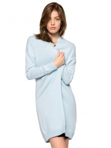 Solid Color Long Sleeve Slit Cardigan