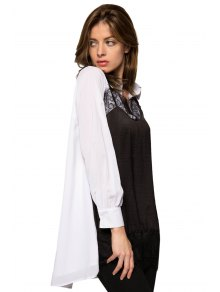 Lace Splicing Color Block Dress