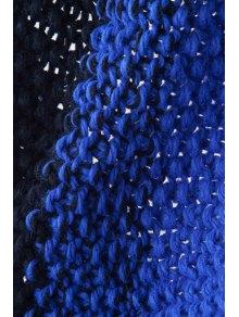 Color Block Knitted Neck Warmer - BLUE/BLACK