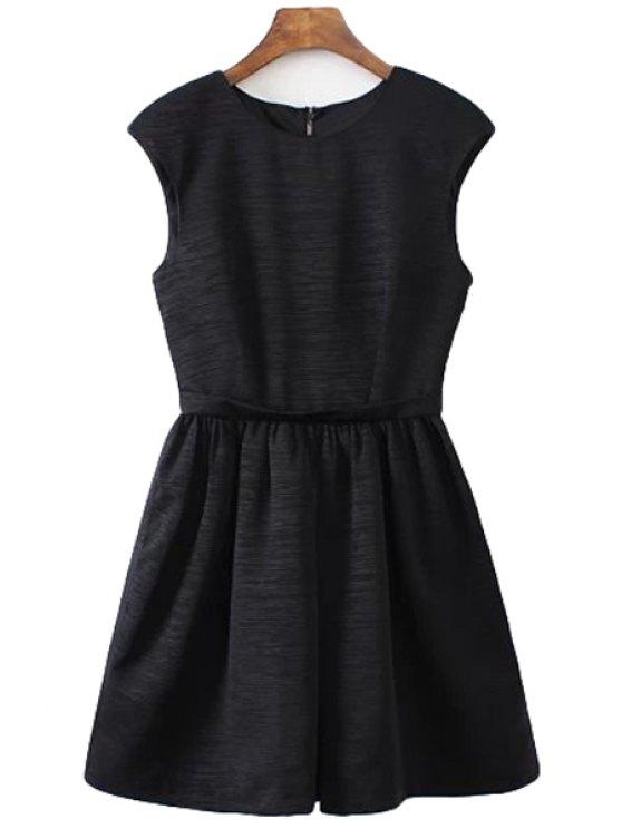 shops Black A-Line Sundress - BLACK S