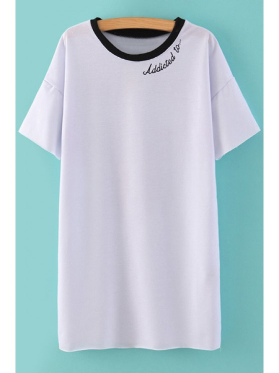 shop Popcorn and Letter Print T-Shirt - WHITE S