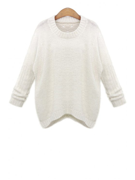 hot Hollow Out Back Sweater - WHITE ONE SIZE(FIT SIZE XS TO M)