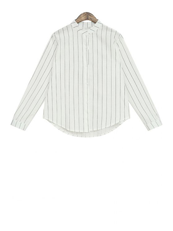 online Stripe Long Sleeve Women's Shirt - BLACK ONE SIZE(FIT SIZE XS TO M)