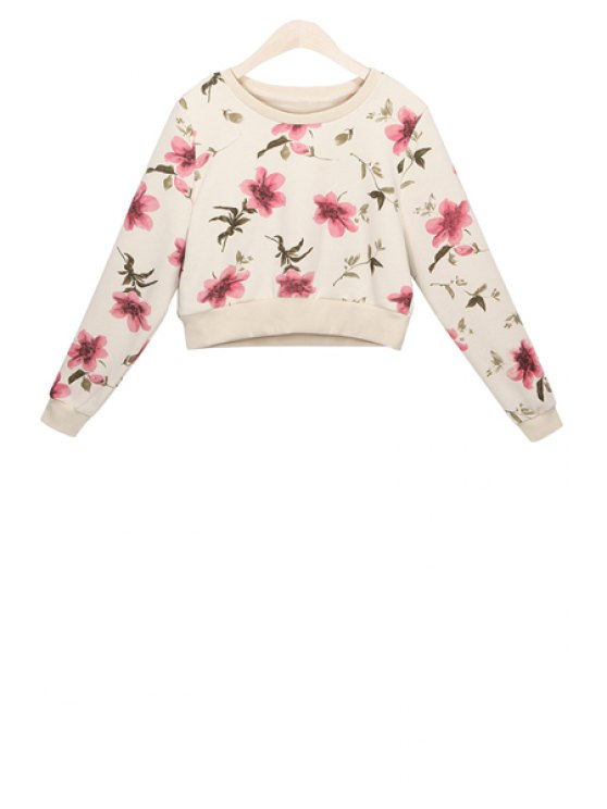 new Full Floral Print Sweatshirt - OFF-WHITE M