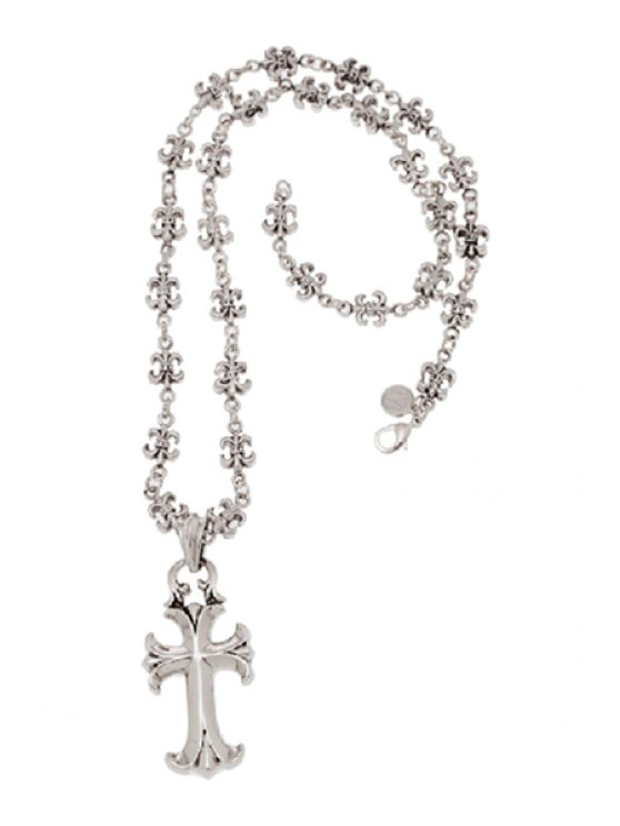 outfits Retro Cross Pendant Necklace - SILVER