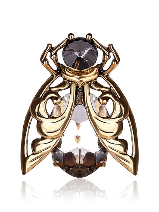 outfit Chic Rhinestone Insect Ring - GOLDEN ONE-SIZE