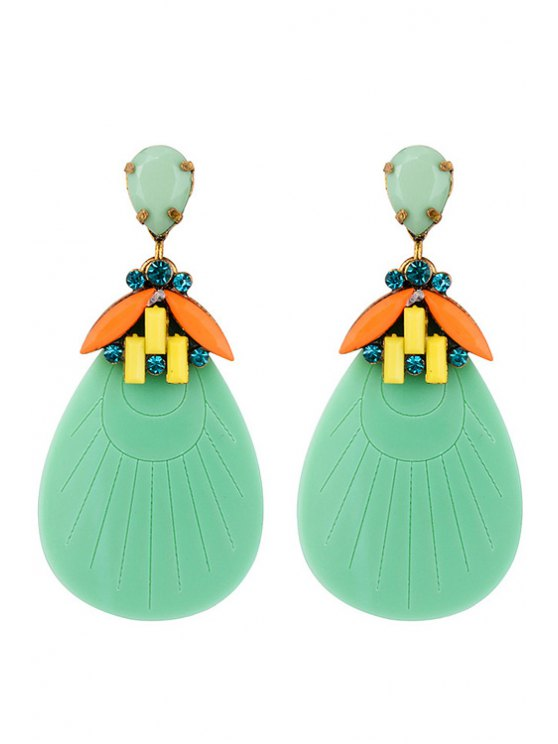outfits Drop Resin Arc Earrings - COLORMIX