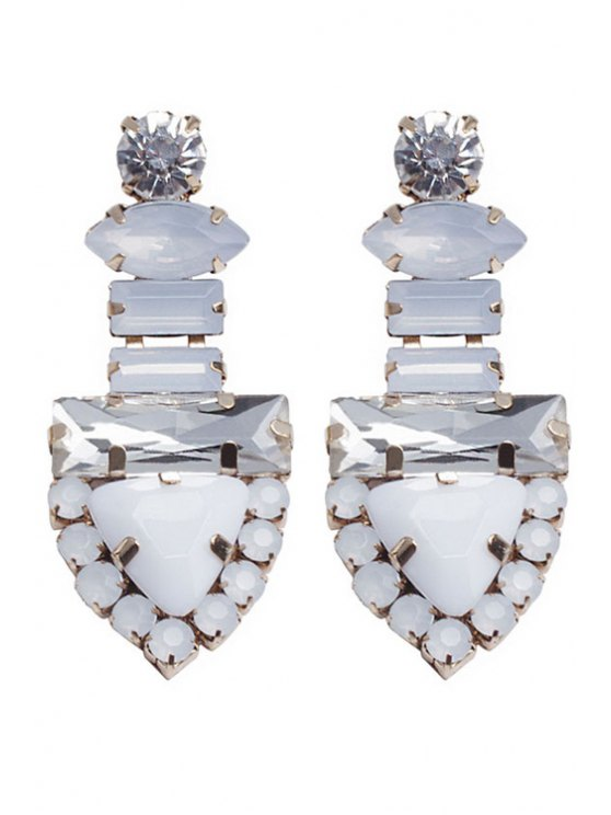 shop Rhinestone Triangle Shape Earrings - GOLDEN
