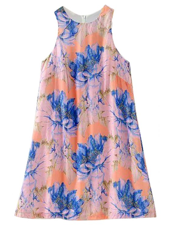 outfit Floral Jewel Neck Sundress - COLORMIX S
