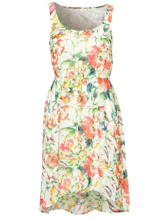 sale Floral High-Low Hem Sundress - COLORMIX S