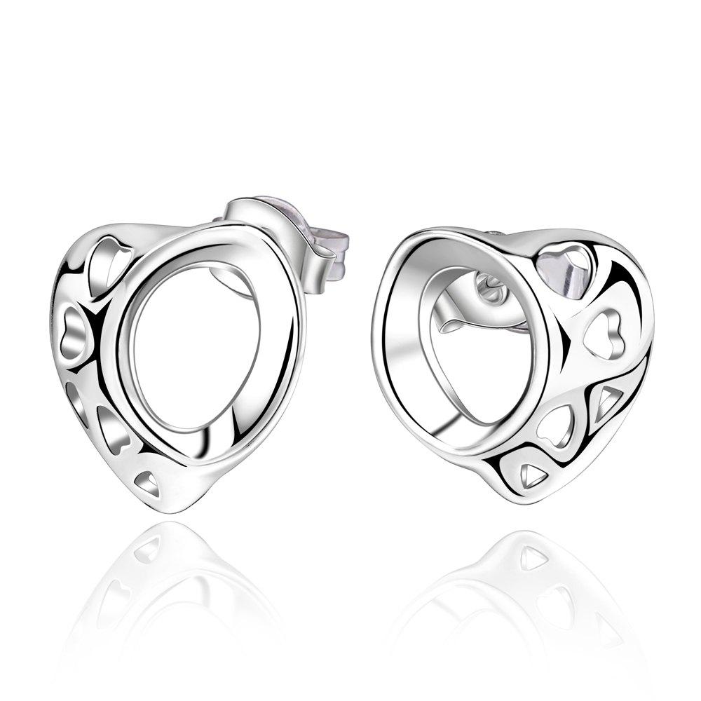 Pair of Stylish Women's Openwork Irregular Heart Shape Earrings