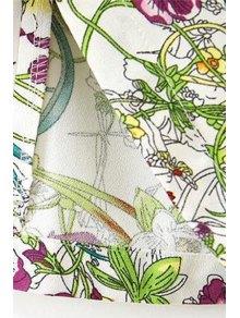 Full Floral Print 3/4 Sleeves Dress