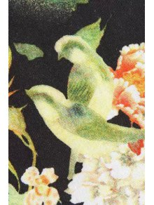 Asymmetrical Floral Print Shirt