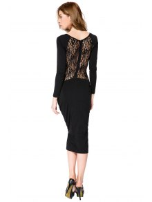 Lace Splicing Bodycon Dress