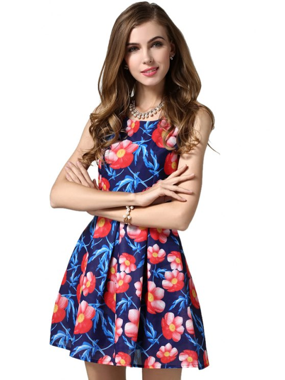 outfit Red Floral Print Sundress - COLORMIX S