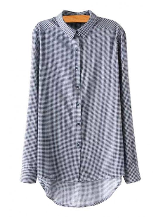 fashion Long Sleeves Checked Shirt - CHECKED S