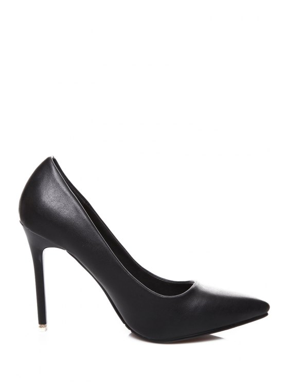 best Stiletto Heel Pointed Toe Pumps - BLACK 35