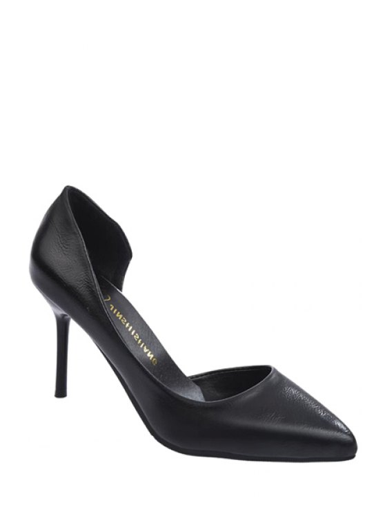 shops Stiletto Heel Hollow Out Pumps - BLACK 34