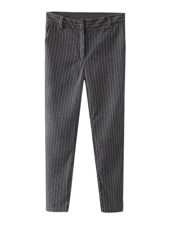 outfits Striped Narrow Feet Pants - GRAY S