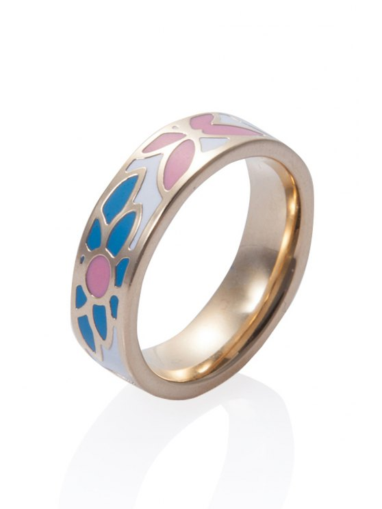 chic Round Geometric Printed Ring - COLORMIX 16