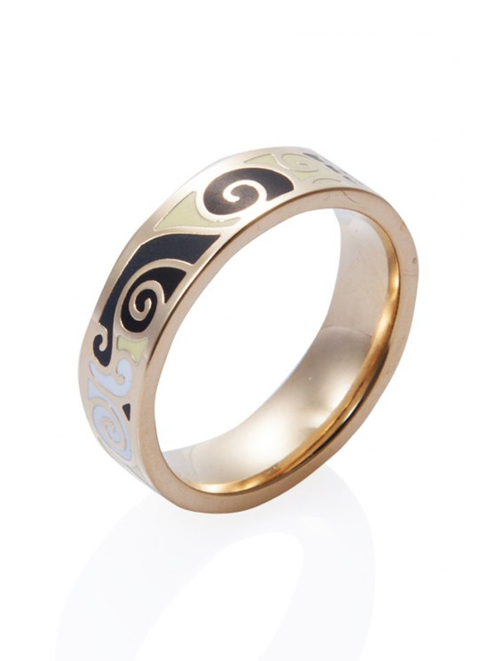 new Round Printed Stylish Ring - COPPER COLOR 16