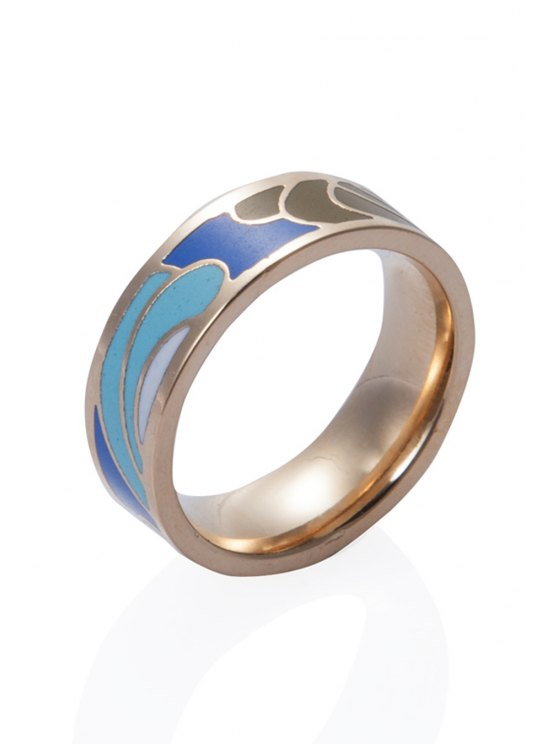 affordable Sweet Round Printed Ring - COLORMIX 16