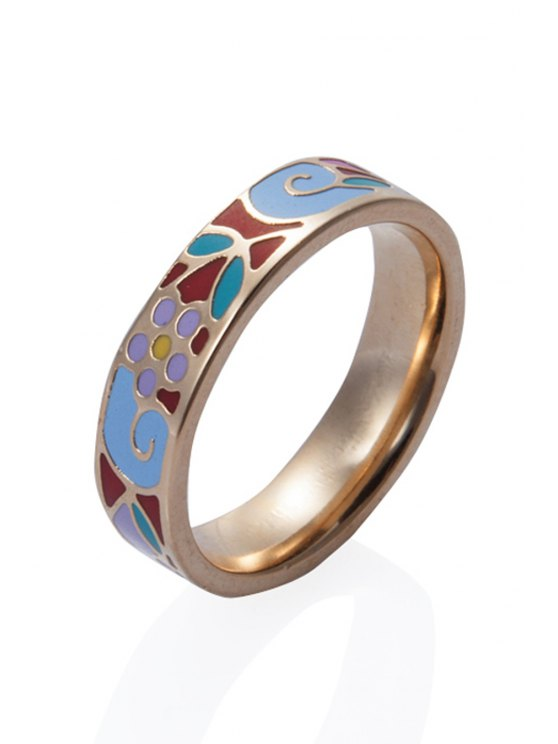 hot Pattern Decorated Round Shape Ring - COLORMIX 16