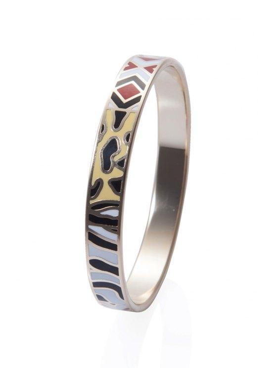 lady Round Shape Pattern Embellished Bracelet - COLORMIX