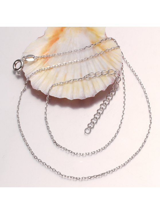 new Nude Chain White Gold Plated Necklace For Women - AS THE PICTURE