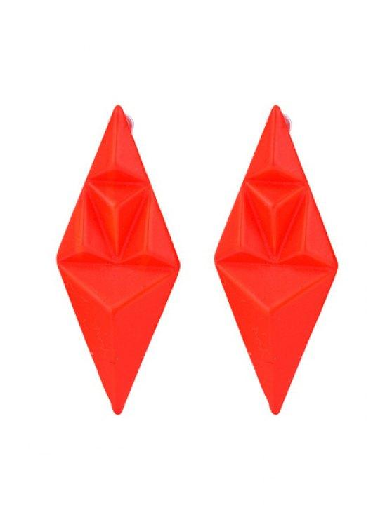outfits Stylish Fluorescence Color Geometric Shape Earrings - ORANGE