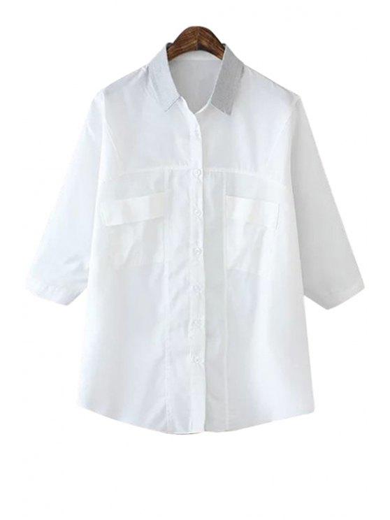 shop White Half Sleeve Shirt - WHITE S