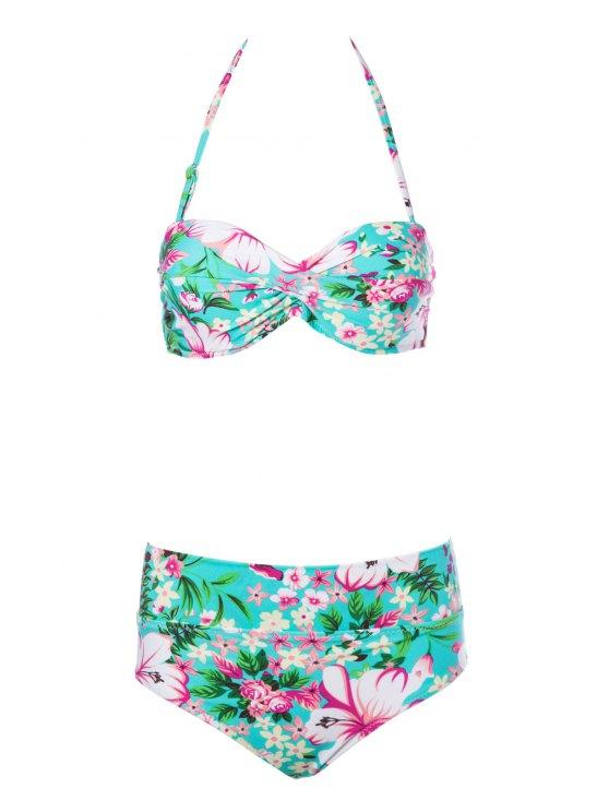 ladies Floral Print Bikini Set - COLORMIX S