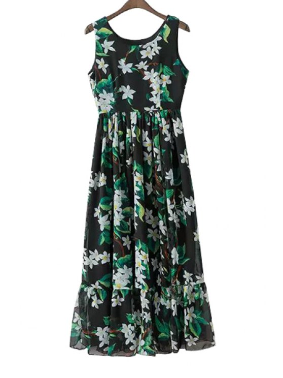shops Full Flowers Print Sundress - GREEN S