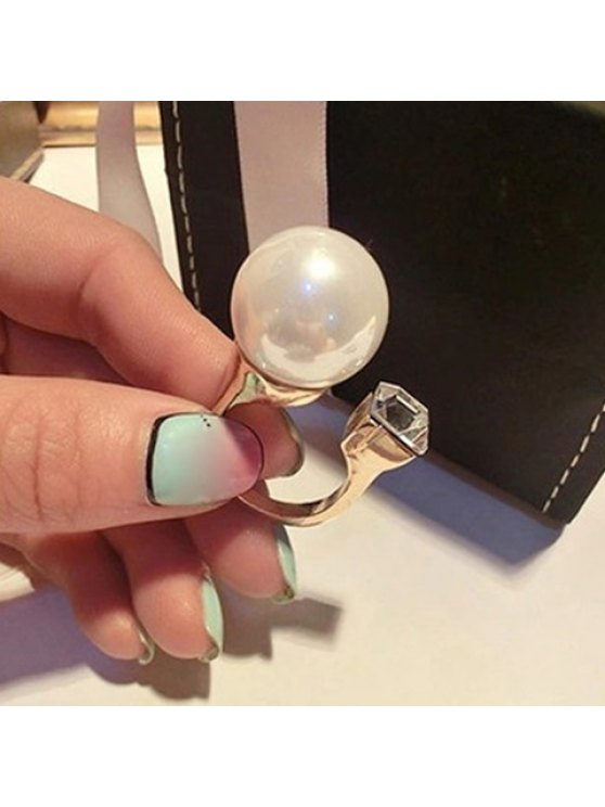 outfit Chic Faux Pearl Decorated Cuff Ring For Women - GOLDEN ONE-SIZE