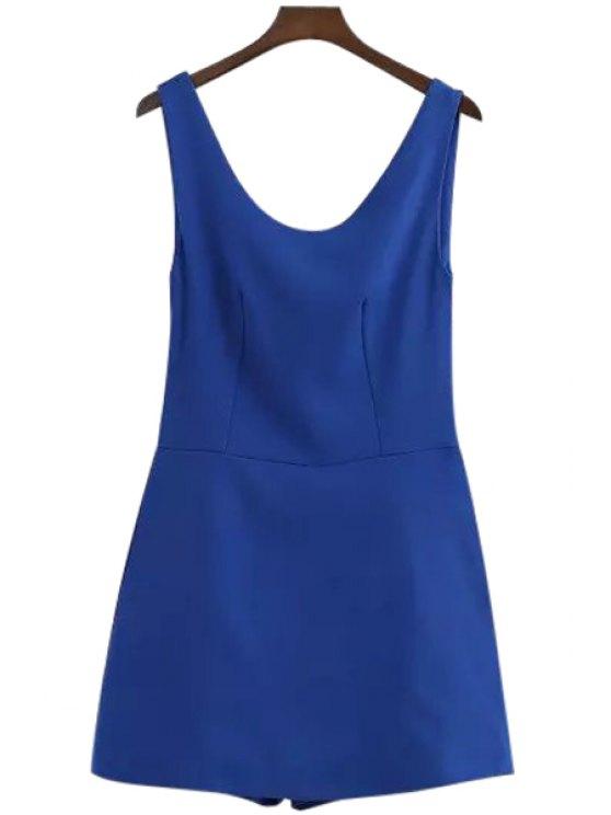 new Blue Sleeveless Romper - BLUE S